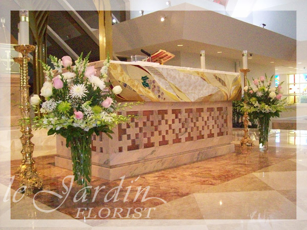 Wedding florist palm beach wedding flowers by le jardin for Jardin floral