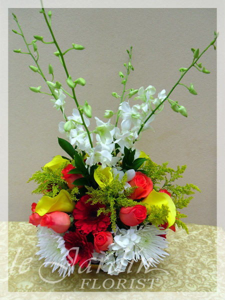 Flowers for happy occasions le jardin florist palm beach for Arrangement jardin