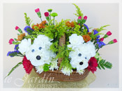 Tooxy & Tocksy the Terriers :: Animal Shaped Flower Arrangements for Kids