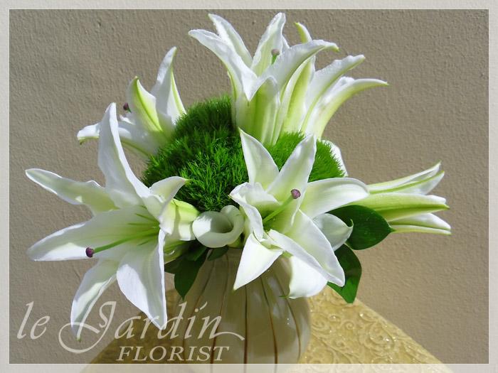 White green flower arrangements 561 627 8118 custom made upscale white flower arrangements mightylinksfo
